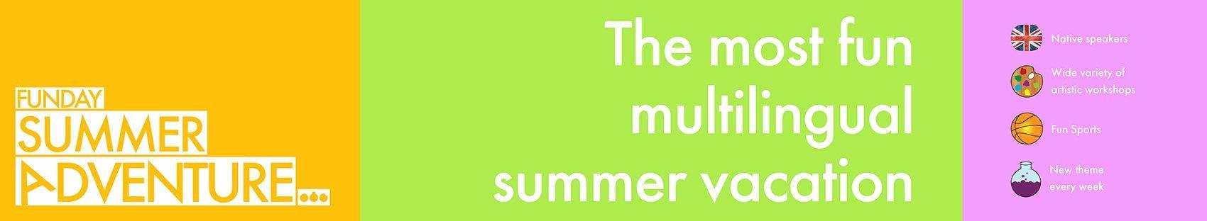 Summer adventure english banner